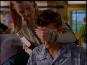 Andie and Pacey goof off post-coitus