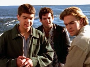 Dawson, Billy, and Pacey are on a boat