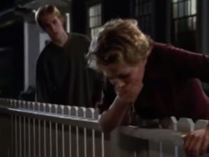 Dawson Looks on as Jen vomits