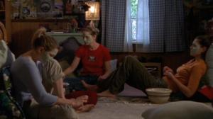Jen, Andie, and Joey do girl stuff.