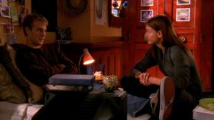Dawson and Joey watch a movie