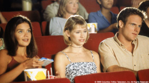Joey & Andie at the movies with a douche.