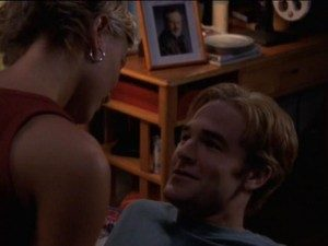 Eve seduces Dawson while Spielberg watches