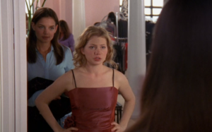 Joey and Jen shop for dresses.
