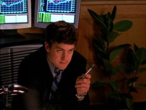 Pacey in a suit